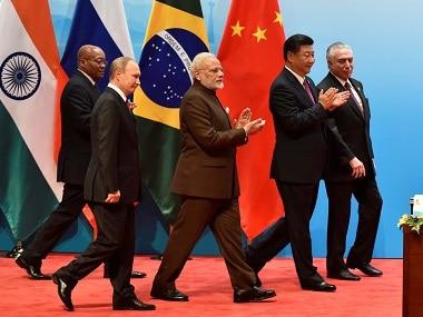 BRICS leaders at the 2018 summit. Reuters
