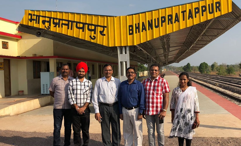 Bhanupratappur railway station was inaugurated on 14 April this year by Prime Minister Narendra Modi through video conferencing. Firstpost/Debobrat Ghose