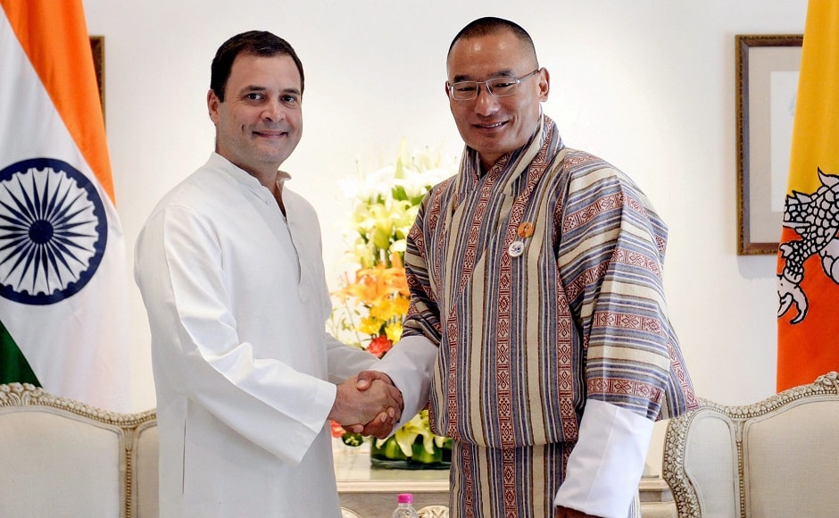 Tshering Tobgay also met Congress president Rahul Gandhi during his visit to India. They discussed ways to further strengthen the