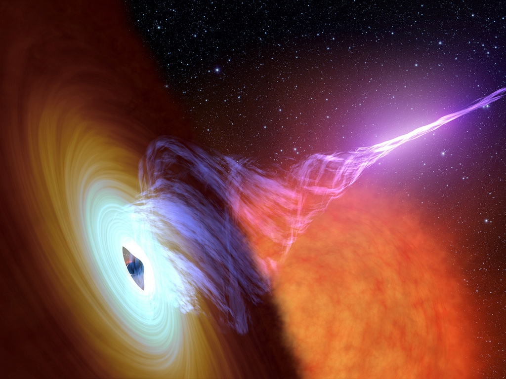 This artist's concept shows a black hole with an accretion disk. Image: Reuters