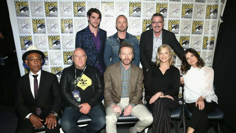 Breaking Bad cast at San Diego Comic-Con/Image from Twitter.