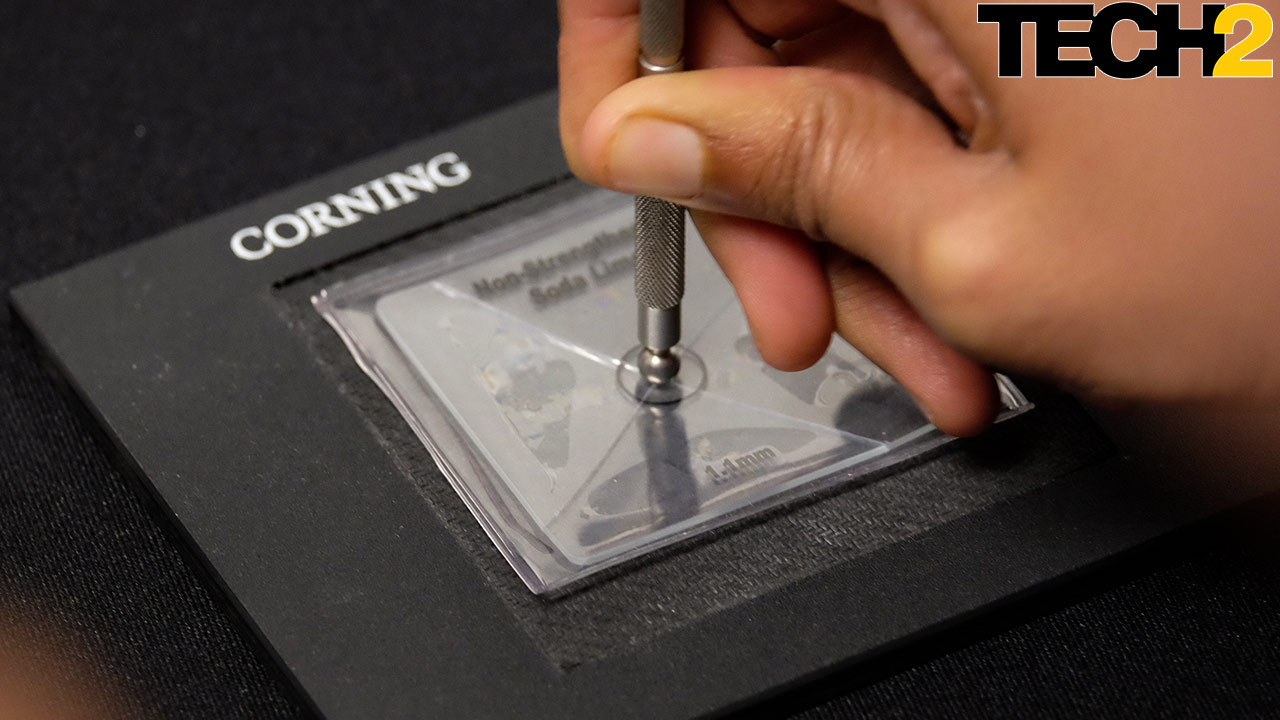 Gorilla Glass 6 is twice as durable as Gorilla Glass 5, claim Corning. Image: Anirudh Regidi/Tech2
