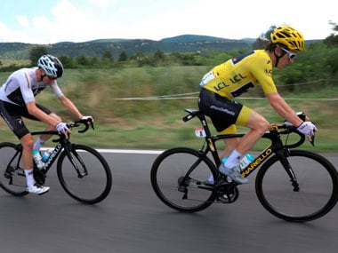 Geraint Thomas and Chris Froome are currently leading in the Tour de France. AP