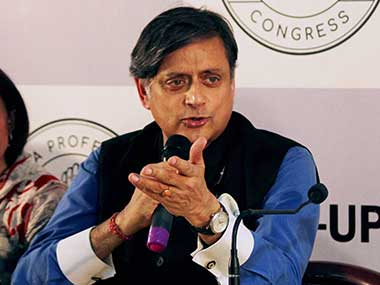 File image of Congress MP Shashi Tharoor. PTI