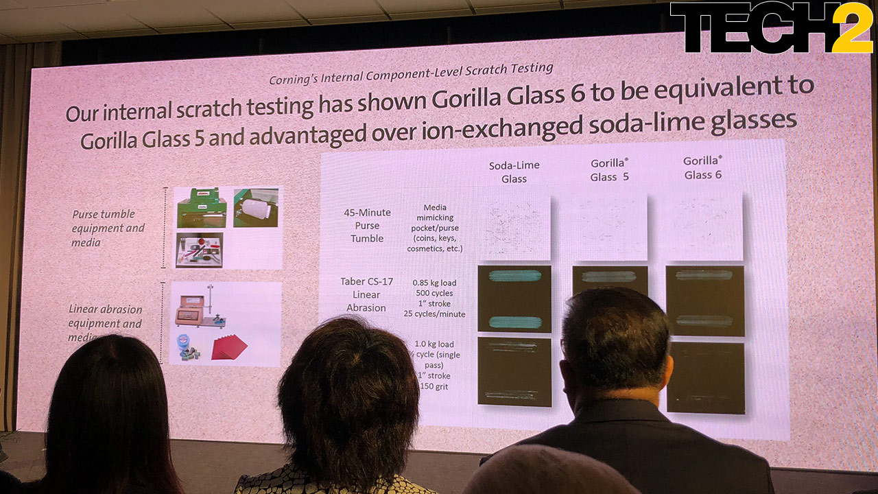 Gorilla Glass 6 is as scratch resistant as its predecessor, but it's much tougher. Image: Anirudh Regidi/Tech2
