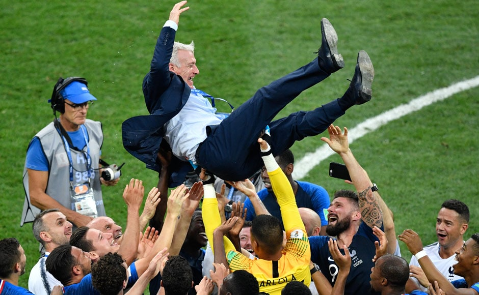 France hung on to win their second World Cup. French boss Didier Deschamps became just the third man to win the tournament as both player and coach. AFP