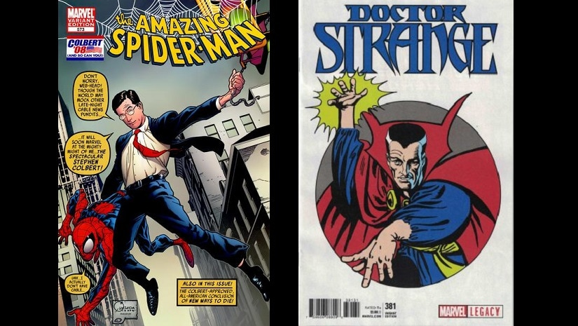 Spider-Man and Doctor Strange, Ditko's most recognisable contributions to the Marvel universe.