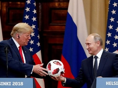 Donald Trump, seeking to calm political storm over Helsinki summit, says he misspoke