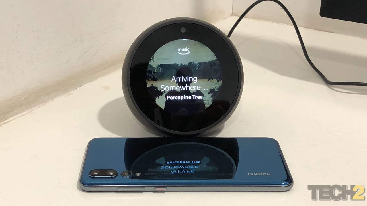 Listening to Music is what I used the Echo Spot for 90 percent of the time. Image: tech2/Nimish Sawant