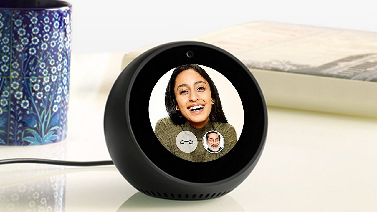 Amazon Echo Spot's front camera can be used to make video calls. Image: Amazon