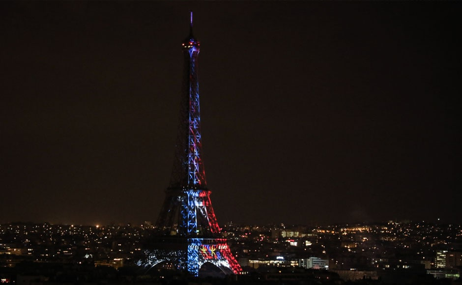 The victory was celebrated all around France, with several landmarks in Paris being lit up with the French colours. AFP