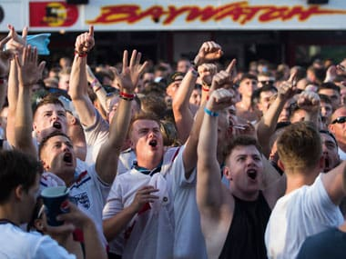 England fans have had a history of misconduct at international tournaments, often getting into trouble for violence and unacceptable chants. AFP