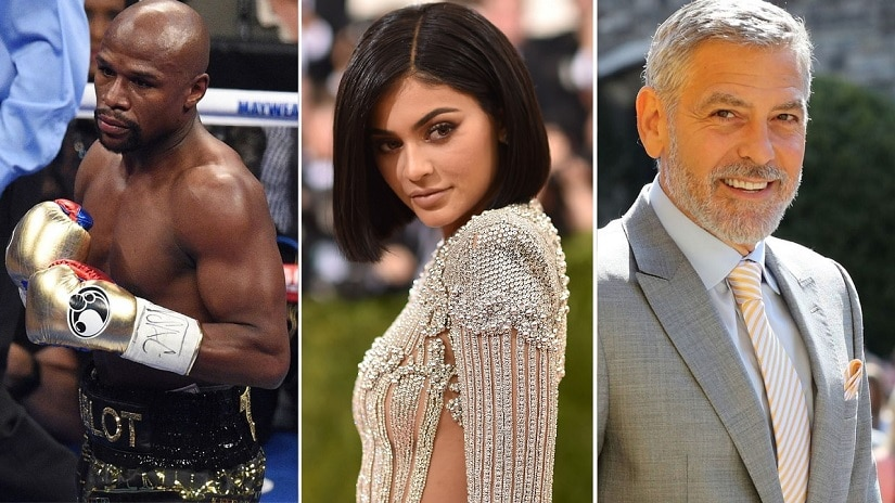 Floyd Mayweather, George Clooney, Kylie Jenner top Forbes 2018 list of highest paid celebrities