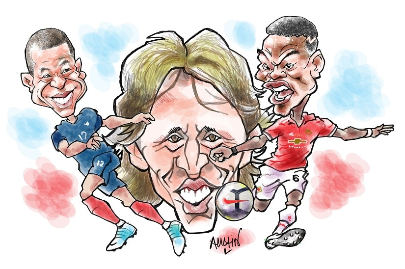 Both the World Cup semifinals, the France-Belgium encounter and the one between fancied England and Croatia, were won and lost because of the strategic brilliance and the tactical blunders of their coaches. Illustration courtesy Austin Coutinho