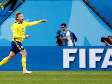 FIFA World Cup 2018: Emil Forsberg underlines his importance to Sweden with impressive display against fumbling Switzerland