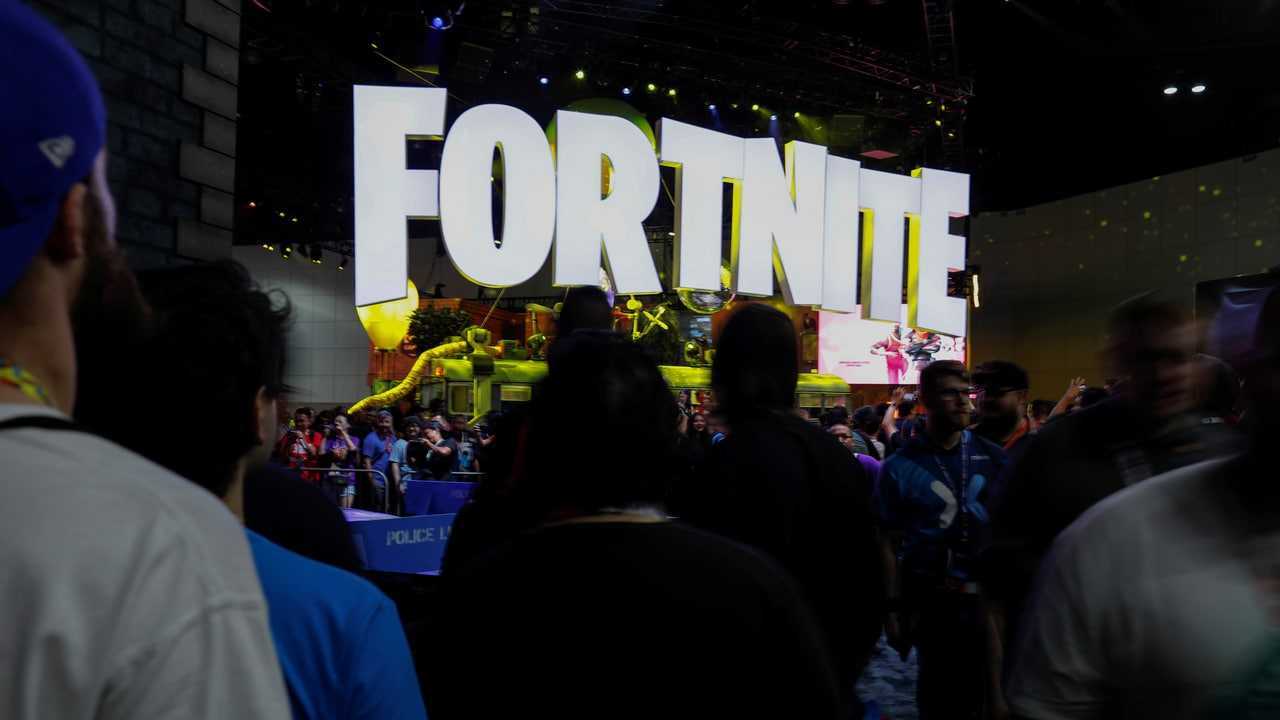 The Fortnite booth is shown at E3, the world's largest video game industry convention in Los Angeles, California. Image: Reuters