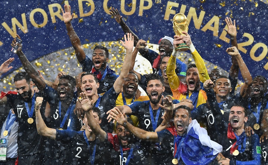 France beat Croatia in FIFA World Cup final Didier Deschamps becomes third man to win as coach and player