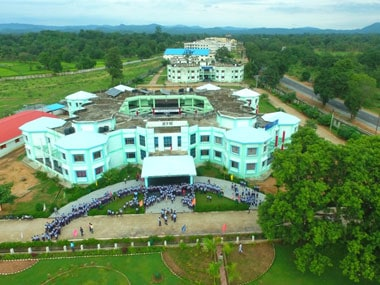 A bird's eye view of the education city at Jawanga village in Geedam. Image courtesy Government of Chhattisgarh