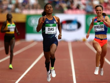 India's Hima Das hadclinched gold at the U-20 World Championships in Finland. AFP