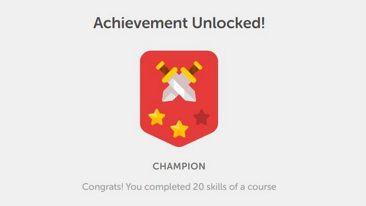 There's a gamification element in Duolingo which keeps you engaged