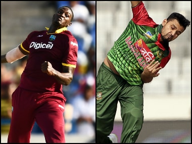 Jason Holder and Mashrafe Mortaza are leading West Indies and Bangladesh respectively. AFP