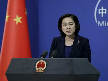 File image of Hua Chunying, spokesperson of China's Foreign Ministry. Reuters