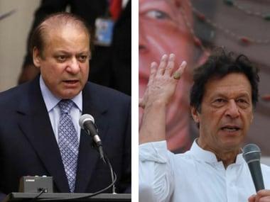 File image of Nawaz Sharif and Imran Khan. Reuters