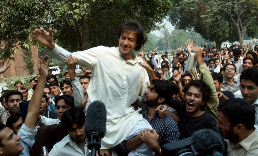 Pakistan cricket legend turned opposition stalwart Imran Khan claims victory