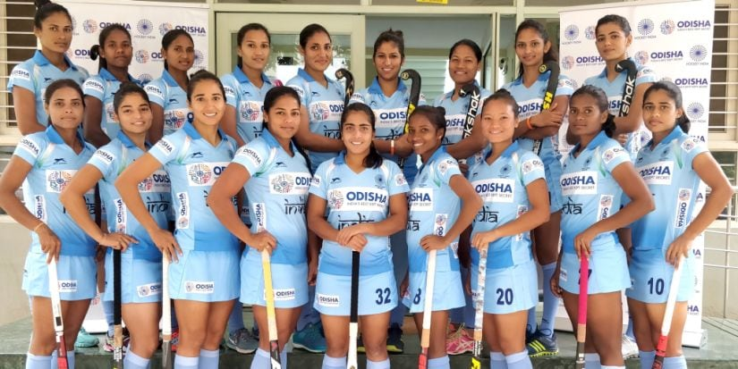 The Indian women's hockey team. Image courtesy: Hockey India