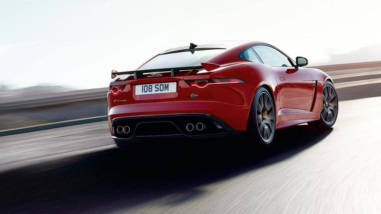 Jaguar F-Pace rear side.