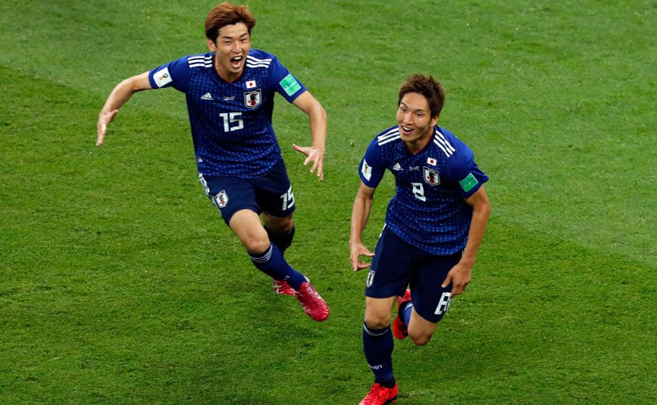 Underdogs Japan got off to an excellent start in their match against Belgium, quickly proving that they were not to be taken lightly. Their technical skills and organisation helped them open the scoring shortly after the second half with two goals from Genki Haraguchi and Takashi Inui coming in the span of just four minutes. AFP