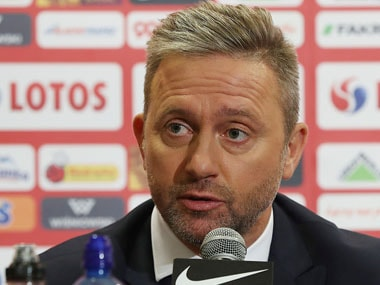 Jerzy Brzeczek was appointed as Poland coach after the side had a dismal World Cup campaign, losing to Colombia and Senegal. AP