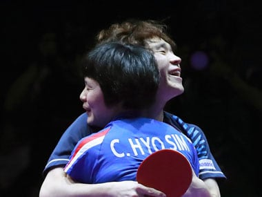 Jang Woo-jin, a male player from the South, and Cha Hyo Sim, a female player from the North, combined to beat China and win the Korean Open. AP