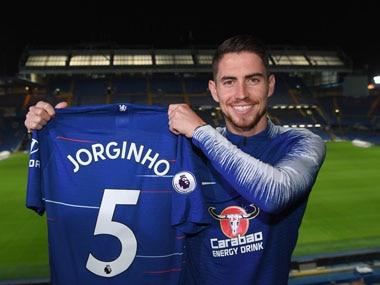 Jorginho was vital to Maurizio Sarri's setup at Napoli. Twitter@ChelseaFC