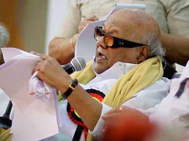 File photo of DMK president M Karunanidhi. PTI