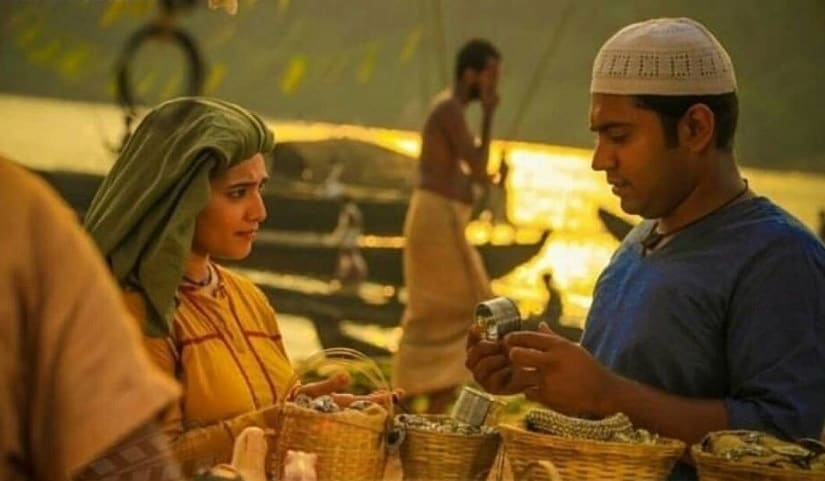 Priya Anand and Nivin Pauly in a still from Kayamkulam Kochunni. Image via Twitter