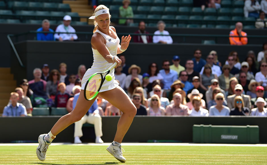 Bertens won the first set, but Goerges, who had never made it past the third round at Wimbledon, fought back to win the match. AFP / Glyn Kirk