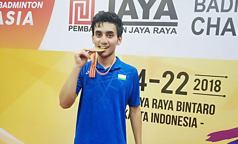 Lakshya Sen became the first male Indian player in 52 years to win the Junior Asian title. Image courtesy: Twitter @himantabiswa