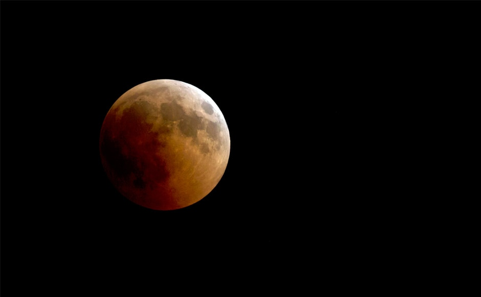 A blood moon rises over Cairo, Egypt. The so-called