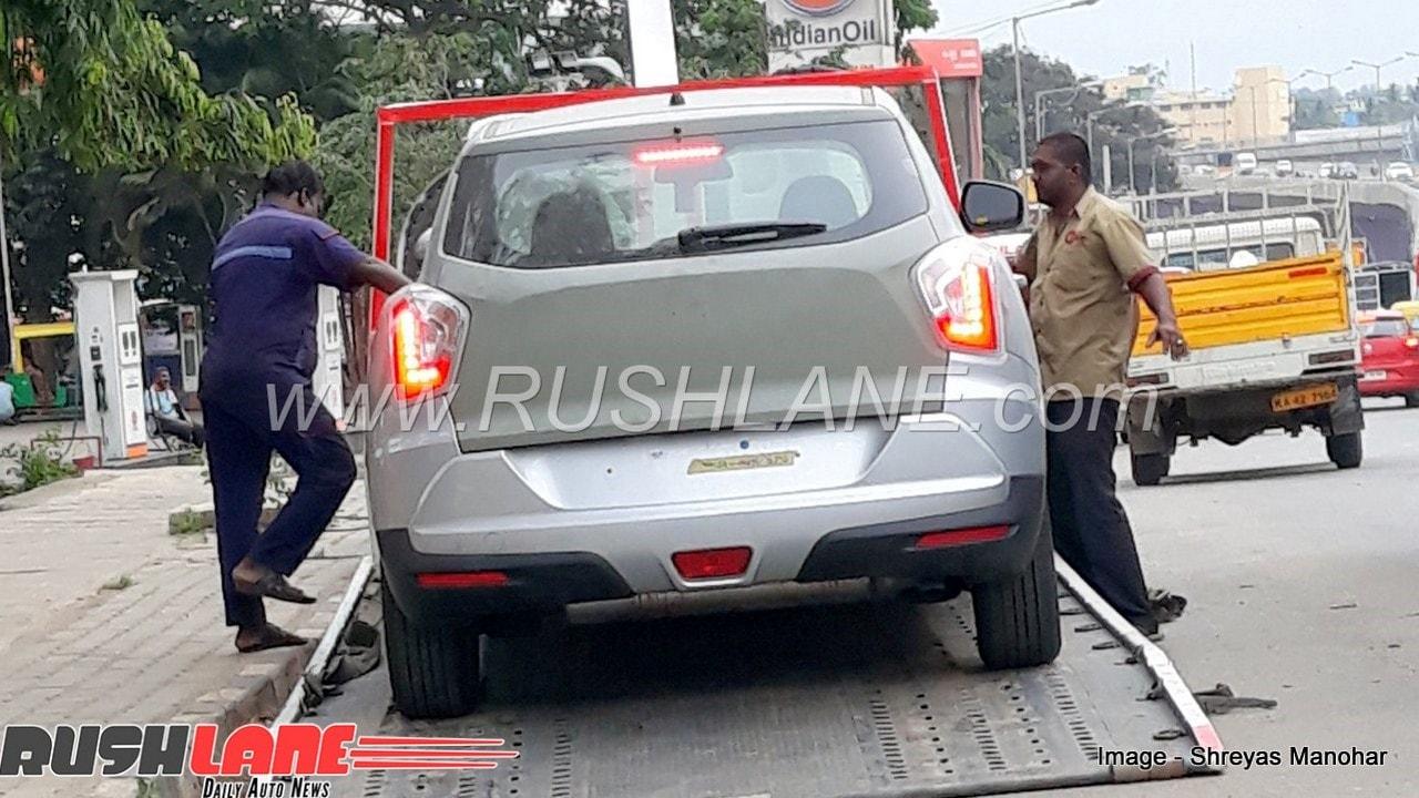 Mahindra's Sub-4M SUV spotted. Image: Rushlane