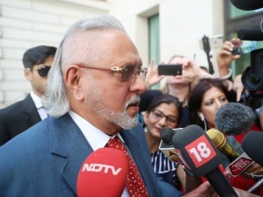 Vijay Mallya at the London's Westminster court. PTI