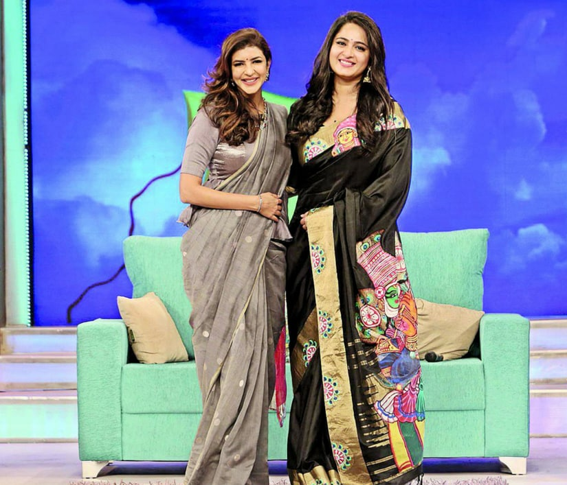 Lakshmi Manchu with Anushka Shetty on Memu Saitham/Image from Facebook.