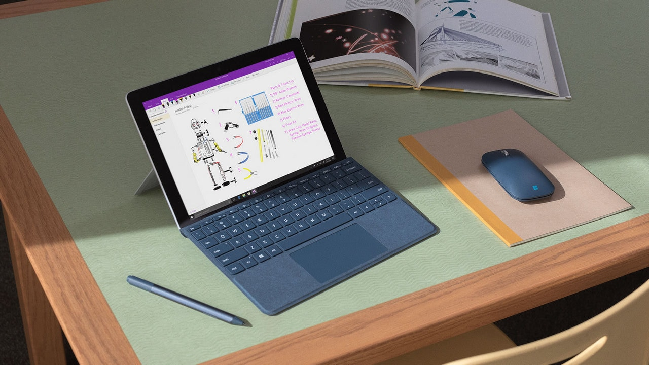 The Surface Go weighs just 1.15 pounds. Image: Microsoft