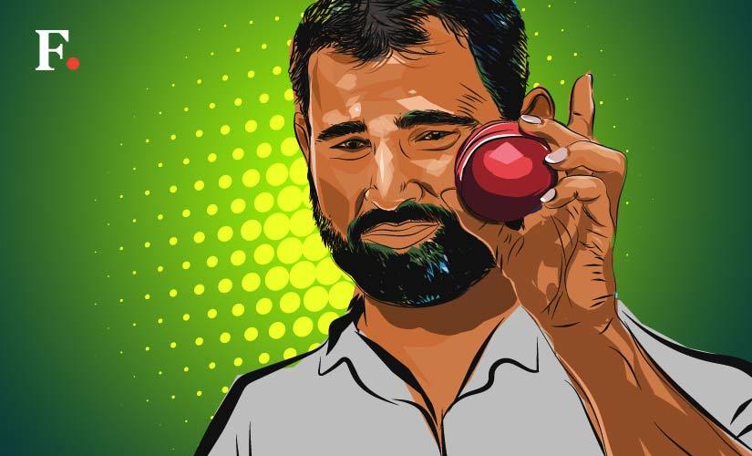 Mohammed Shami. Art by Rajan Gaikwad
