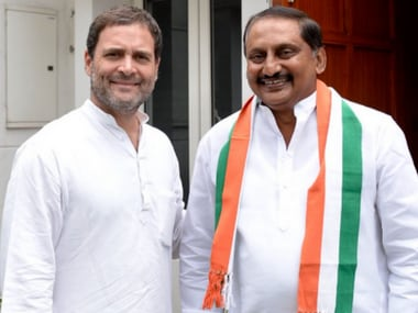 Ex-Andhra Pradesh chief minister N Kiran Kumar Reddy returns to Congress fold four years after exit