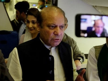 Nawaz Sharif and daughter Maryam on their way back to Pakistan on Friday. Reuters