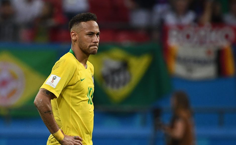 Neymarcouldn't rescue Brazilas they crashed out of the World Cup with a loss to Belgium. AFP/Jewel Samad