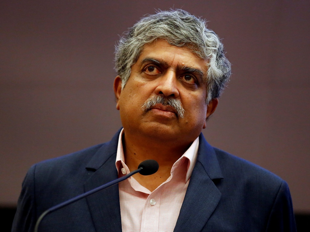 Former UIDAI chairman, Nandan Nilekani photographed earlier this year. Image: Reuters