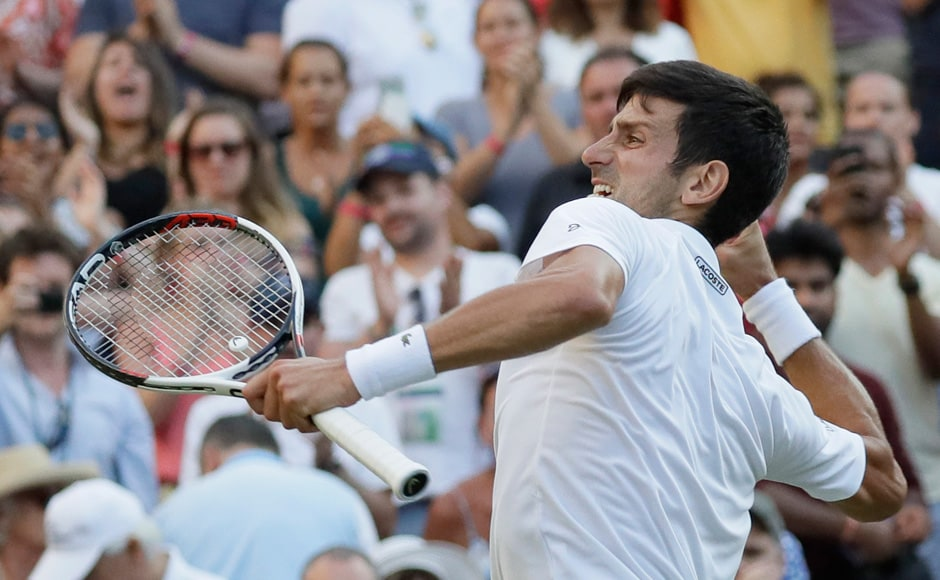 Three-time Wimbledon winner Novak Djokovic beat Kyle Edmund 4-6, 6-3, 6-2, 6-4 to progress to the next round. Andy Murray's decision to not participate in Wimbledon had effectively made Edmund England's best shot at the Men's Singles title. AP