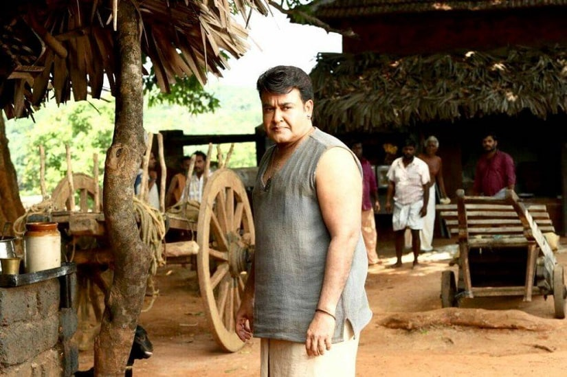 Mohanlal on the sets of Odiyan. Facebook